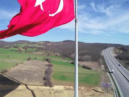 Turquia samsun bandera gigante