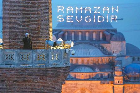 Estambul llamada oracion santa sofia iftar ramadan