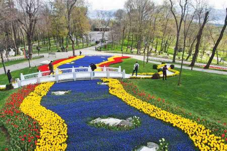 Estambul millones tulipanes colores