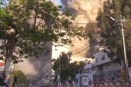 Palestina edificio bombardeado israel gaza