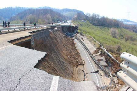 Turquia autopista derrumbe